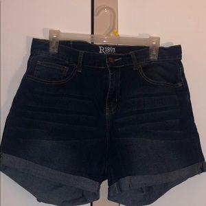 mid length denim shorts